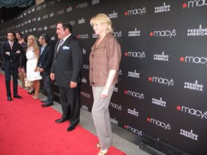 Here we are lined up on the red carpet at the Macy's flagship Herald Square store.