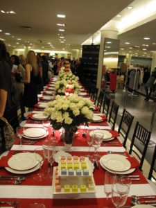 The table set for the VIP dinner party