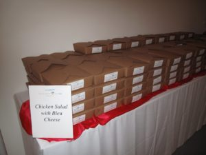 Boxed lunches were handed out to the attendees.