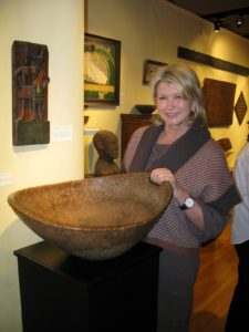Perhaps my favorite piece in the show was this massive Iroquois open handled ash burl bowl - circa 1760 from  Steven S. Powers Antiques. www.burlsnuff.com
