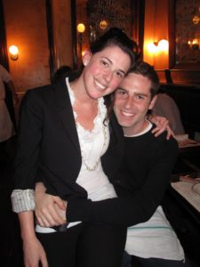 Coincidently, Lauren Rich, who works for MSLO, had just gotten engaged 30 minutes prior.  Here she is with her new fiance, Andrew, celebrating at Pastis!