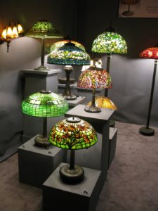 Lillian Nassau collection of glass lamps - www.lilliannassau.com - Louis Comfort Tiffany and Tiffany Studios, Including Lamps, Glass, Windows, Ceramics, Paintings, and Metalwork; European and American Late 19th- and Early 20th-Century Decorative Arts and Sculpture
