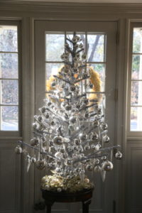 My silver tree in the hallway