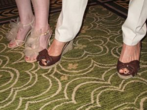 I really liked Heather's bowed shoes - she told me they're from Ann Taylor.