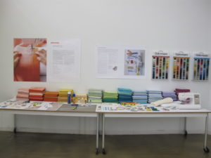 The glossary table displays sewing essentials.