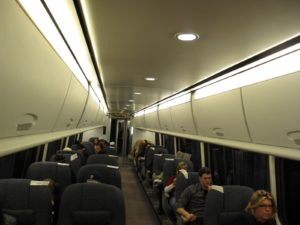 This is the first class car on Amtrak's Acela, which we took from Pennsylvania Station in New York City to Washington DC.
