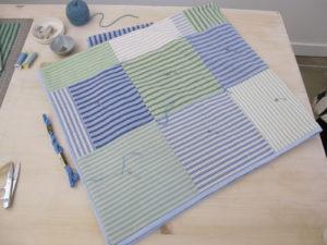 The quilt in progress