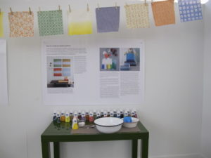 RIT dye provided giveaways and for our dyeing display.