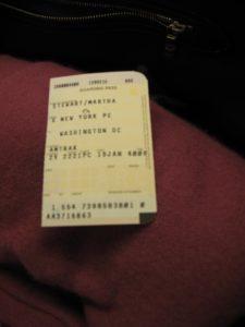 Here's my ticket stub.