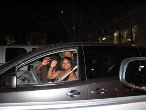 A very happy group of Chicagoans - they recognized me in my car and waved and yelled - they were ready to party!