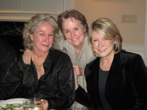 Here I am at the Phillips Collection with our hostess for the evening, the famous American chef and writer, Alice Waters (center), and Suzy Tompkins Buell, founder of Esprit and a really staunch supporter of the Democratic party