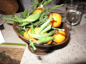 Alice Waters' tables are always long, simple, generous, and inviting. There were a couple hundred guests at this dinner, which benefited several food related institutions in Washington.
