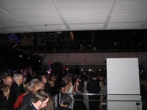 A giant crowd was expected, and guess what?  By 10 PM, most of the giant crowd had arrived!  It was the place to see and to be seen, that night.