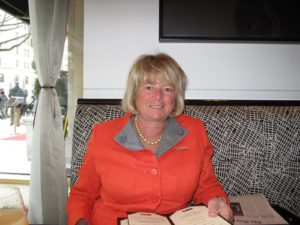 Here's Jane on Tuesday morning as we prepared to brave the cold on inauguration day. We stayed at the Hotel Sofitel - it was so nice and everyone spoke French and was so helpful.
