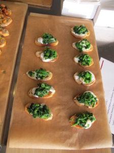 Broccoli rabe and ricotta crostini
