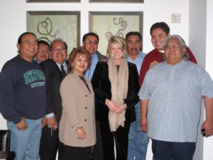 Here I am surrounded by representatives of the Cherokee nation from Phoenix, Arizona.