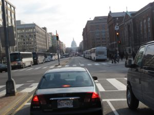 On the way to the train station, to return to New York Ctiy, we went as close as we could to the Capitol.