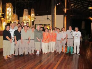 The group from the Borneo Rain Forest Lodge.  Thanks so them, we had such a wonderful stay!