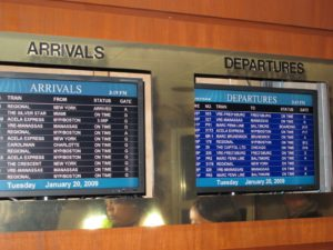 The departures were all on time!
