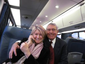Dan Rather was very friendly! He had taken a grandson to the day's festivities.