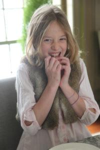 Yasmin enjoying some holiday candy
