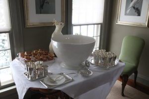 This polar bear was greeting guests to the eggnog table.