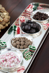 Holiday candy was set around the house.