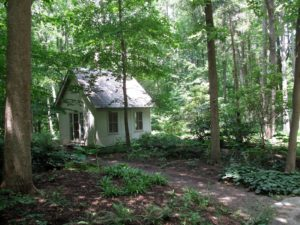Deep in the woods along my riding trail is this little woodland folly.