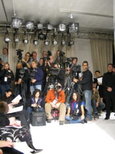 The roster of fashion photographers - they had a lot to capture at this show.