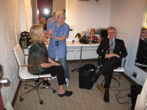 My attorney, Larry Shire, dropped by to visit with me before the taping of the show - he put me at ease.
