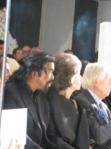 Nickolas Ashford sitting next to Deeda Blair, a big Rucci fan