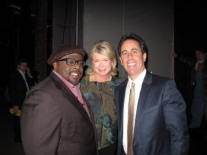 Cedric, me, and the very, very, famous funny man - Jerry Seinfeld - Jerry is the genius behind the show.