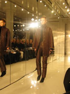 A chestnut silk moire coat and pants - this I really want