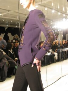 More violet - this time a jacket with complicated cutouts