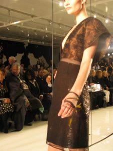 A bronze samurai dress - I loved this!