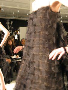 A tiered dress of chiffon