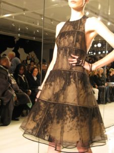 A multi-layered horsehair dress