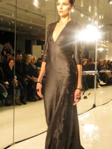 A matte black sequin siren gown - lots of applause for this one!