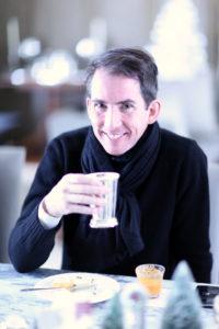 Keven Sharkey enjoying a cup of eggnog