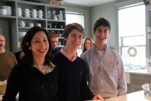 Lisa Wagner with her sons Alexander and Ethan