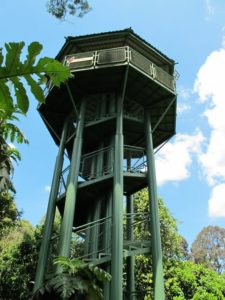 There are a few tall observation towers, like this one.