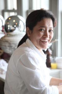 Sanu Sherpa was very helpful in the kitchen.