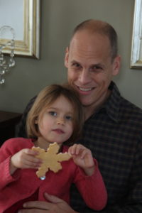 Andrew Postman and daughter, Nell