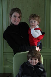 Judy Morris and her sons William and Eddie