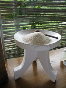 Each bath area has a dish of bath salts for relaxing hot baths after the game drives.