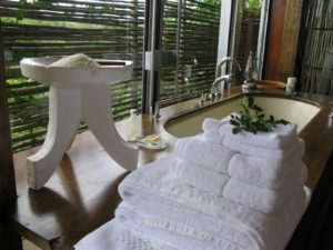 A stack of fresh white towels