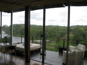 The balconies are cantilevered from the bedroom areas - I liked to rest there between game drives.