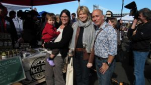 Here I am with John Cutti, his wife Sarah, and their adorable son Eli.