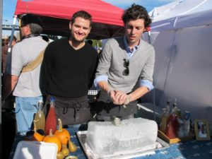 David Carrell and Joel Horowitz of People's Pop.  They make splendid all-organic popsicles and ices.