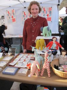Laura Normandin with her handmade craft line